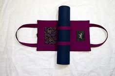 Designer yoga mat tote bags by My Zen Art - strap your mat in and go!