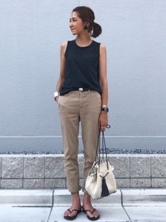 kayoさんの「TODAYFUL(トゥディフル) ''ELLIE's Earring'' ELLIE'sイヤリング(LIFE's|ライフズ)」を使ったコーディネート Tokyo Fashion, Work Fashion, Fashion Pants, Daily Fashion, High Fashion, Fashion Looks, Fashion Outfits, Womens Fashion, Mode Simple