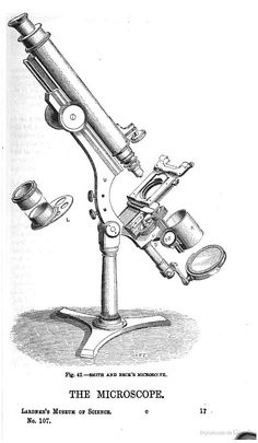 Smith and Beck's microscope. From The microscope: excerpts from The museum of science and art, 1856.