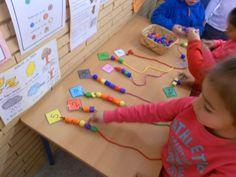 ad correct number of beads Preschool Education, Preschool Classroom, Kindergarten Math, Toddler Preschool, Teaching Math, Learning Numbers, Math Numbers, Math Resources, Math Activities