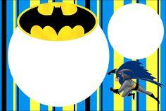 Batman - Kit Completo com molduras para convites, rótulos para guloseimas, lembrancinhas e imagens! - Fazendo a Nossa Festa