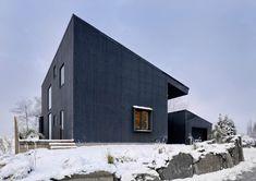 Villa Öjersjö: A Contemporary Black Wooden House by Bornstein Lyckefors arkitekter - Design Milk