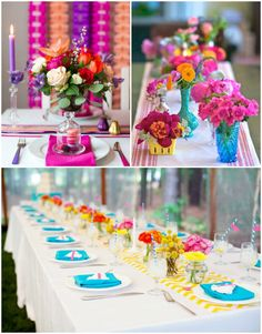 Bright Coloured Wedding Decor