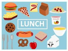 Lunch Clip Art by Empty Jar Illustrations Cool Clipart, Frame Clipart, Christmas Gift Clip Art, Preschool Activities, Rainbow Activities, Free Graphics, Kid Friendly Meals, Food Art, Doodles