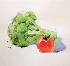 Watercolor Study: Learn How To Paint Appealing Fruits And Vegetables