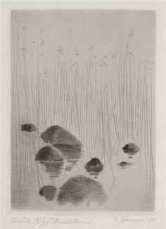 Gunnar Norrman - Strandsternar, 1976, Dry point on... on MutualArt.com