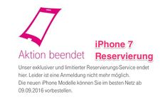 iPhone 7 Vorverkauf: Apple Store Down, Telekom beendet iPhone 7 Reservierung - https://apfeleimer.de/2016/09/iphone-7-vorverkauf-apple-store-down-telekom-beendet-iphone-7-reservierung - Heute beginnt die heiße Phase der iPhone 7 Vorbestellungen bei Apple und den deutschen Mobilfunkanbietern. Während der Apple Online Store bereits vom Netz genommen wurde um die kommende iPhone 7 Vorbestellungen ab 09:01 Uhr deutscher Zeit entgegen zu nehmen, ist auch auf der Webseite für di