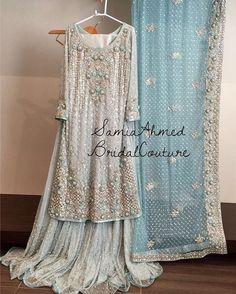 Pakistani Bridal Outfit, via Pakistani Wedding Outfits, Pakistani Wedding Dresses, Bridal Outfits, Indian Dresses, Indian Outfits, Saris, Walima Dress, Pakistani Couture, Desi Clothes