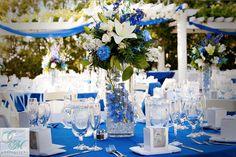 chabrowe dekoracje weselnych stolow