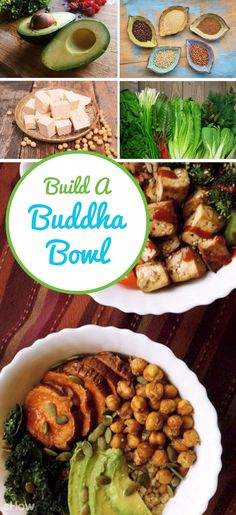 """Buddha bowls (hippie bowls)  have the power to both nourish and satisfy, boost health and aid weight loss efforts. Each bowl should be """"built"""" according to a winning superfood equation: whole grain + a nutrient rich green/veggies + lean protein + healthy fats! http://www.ehow.com/how_12343783_healthy-eating-build-buddha-bowl.html?utm_source=pinterest.com&utm_medium=referral&utm_content=freestyle&utm_campaign=fanpage"""