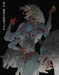 Draw Creatures ArtStation - False God : Fenrir the Abyss Wolf, Ching Yeh - Monster Concept Art, Fantasy Monster, Monster Art, Fantasy Kunst, Dark Fantasy Art, Fantasy Artwork, Creature Concept Art, Creature Design, Arte Horror