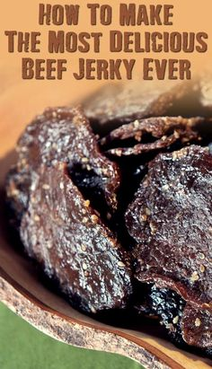 Make The Best Beef Jerky Ever - SHTFPreparedness - How To Make The Most Delicious Beef Jerky Ever – If SHTF, I won't be eating the expensive store - Beef Jerky Marinade, Smoked Beef Jerky, Beef Jerky Dehydrator, Beef Jerkey, Beef Jerky Seasoning, Food Dehydrator, Beef Jerky In Smoker, Beef Steak, Jerkey Recipes