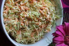 Tässä on helppo ja hyvä kesägrillausten kumppani: cole slaw eli kaalisalaatti amerikkalaisittain. Viikonlopun grillipippaloissa raikas, meh... Cole Slow, Vegetable Sides, Food Inspiration, Cabbage, Salads, Food And Drink, Baking, Vegetables, Diy