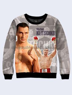 Mens 3D-print sweatshirt. Ukrainian boxer - Wladimir Klitschko.  #Menshoodie #malesweater #youthfulsweatshirt #3Dprintimage #cardigan #pullover #Longsleeve #hoody #WladimirKlitschko