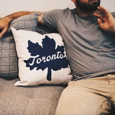 In a hustle and bustle city like Toronto, this pillow is a nice contrast. Cotton Canvas Linen by Includes Pillow insert Zipper closure for easy care Dry Clean or spot clean only Toronto Houses, Pillow Inserts, Cotton Canvas, Throw Pillows, Cool Stuff, Toss Pillows, Cool Things, Cushions