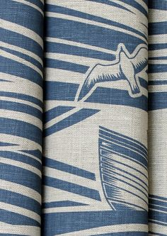 Image of Whitby Fabric - Washed Denim  Cushions or chairs, how do I decide?