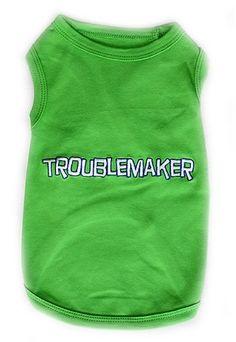 Pet ClothesTROUBLEMAKERDog T-Shirt-Large $7.95