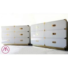 BUILT2ORDER // Custom Made Campaign Furniture with Brass or Chrome Bases and Automotive Finishes - Your Choice of Color