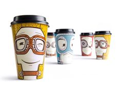 How do you feel today? Sad or Happy? Tired or Flirty? Take Away cup lets you customize your face and mood on your cup by moving the cup sleeve. A fun way to express your emotions, while taking in your favorite beverage from Gawatt Coffee Shop. Designed by Backbone Branding, the cleaver use of
