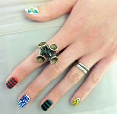 Prada-inspired nails