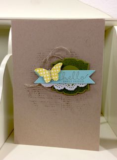 Thursday, October 17th, 2013 Sandi MacIver, Stamping With Sandi - Bitty Butterfly Punch, Six-Sided Sampler, Label Love  Stampin Up