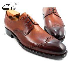 cie Goodyear Welted Narrow Shoe Last Custom Handmade Pure Genuine Calf Leather Men's Dress/classic Patina Brown Derby Shoe Calf Leather, Leather Men, Brown Derby, Narrow Shoes, Shoe Last, Derby Shoes, Goodyear Welt, Calves, Men's Shoes