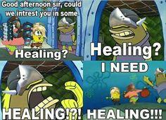 I need healing, overwatch memes, #overwatch humor, fun | genji and spongebob #overwatchMeme