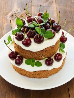 Cherries | 27 Cakes Covered In Delicious Food