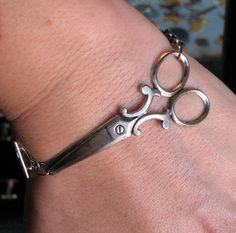 scissor bracelet  silver shears jewelry by friendlygesture on Etsy, $20.00