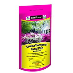 Azalea/Evergreen Food Plus with Systemic 9-15-13 (15 lbs). Fertilome Azalea/Evergreen Food Plus with Systemic 19-15-13 feed plants and protects against insect pests in one easy application. This product is absorbed through the roots and travels through the entire plant! #plantfood #azaleas #fertilizer