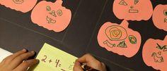 Abóboras de Halloween auxiliando na matemática
