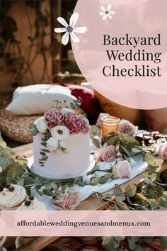 Planning a backyard wedding, but not sure what you'll need? Here's a simple checklist for your backyard wedding reception, backyard wedding ceremony, backyard wedding decoration, backyard wedding ideas on a budget, backyard wedding lighting, backyard wedding small, backyard wedding cheap, backyard wedding rustic, backyard wedding DIY, backyard wedding simple, backyard wedding reception tent, backyard wedding bar, backyard wedding elegant, backyard wedding set up, backyard wedding food.<br> Elegant Backyard Wedding, Wedding Reception On A Budget, Diy Wedding Food, Backyard Wedding Decorations, Rustic Backyard, Wedding Simple, Inexpensive Wedding Venues, Wedding Set, Wedding Rustic