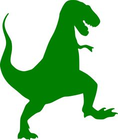 Green T-rex Silhouette clip art - vector clip art online, royalty ... - ClipArt Best - ClipArt Best
