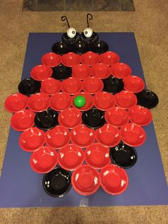 Black and red bowls glued to foam board. Prize for landing in black bowl. Red Bowl, Black Bowl, Probability Games, Family Math Night, Game Black, Dream Catchers, Landing, Bowls, Holiday Decor
