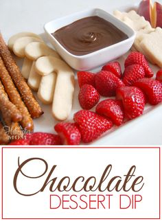 Chocolate Dessert Dip Recipe - amazing with fruit, cookies, pretzels and more! Easy Chocolate Desserts, Fun Desserts, Delicious Desserts, Yummy Food, Chocolate Dip For Fruit, Chocolate Recipes, Dessert Dips, Dessert Recipes, Fondue