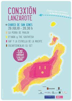 Sábado de concierto en #Lanzarote. Entrada #gratis 'Conexión Lanzarote', se celebrará en el Charco de San Ginés a partir de las 20:30h con las actuaciones de La Perra de Pavlov, O'Hara and The Southfish, y Gaf y la Estrella de la Muerte. Como telonero estará Oscartienealas Dj
