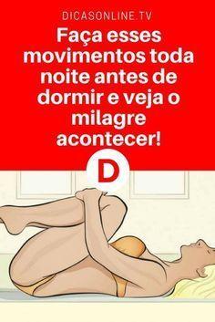 Exercícios para acabar com insónia   Faça esses movimentos toda noite antes de dormir e veja o milagre acontecer!