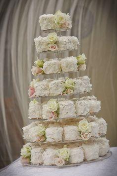 Mini-cake tower? Pretty! Photography by http://afoto.com.au