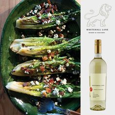 "We'd pair this ""Grilled Romaine Salad with Blue Cheese and Bacon"" with our Sauvignon Blanc. #winepairing #salad #recipe"