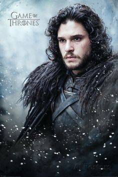 Game Of Thrones- Jon Snow In Winter Póster