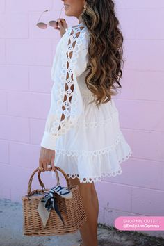 OMG, as a huge Zimmermann fan – I was so thrilled to score this dress! Has all of the the Zimmermann vibes – but not the Z price tag! 🌟 And… who isn't in love with a LWD?! THIS one from Nordy is a real winner!  Emily Gemma, The Sweetest Thing Blog #EmilyGemma #theSweetestThingBlog The Sweetest Thing Blog, Chanel Scarf, Spring Trends, Spring Outfits, Spring Fashion, What To Wear, Cute Outfits, Style Inspiration, Fan