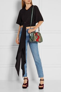 Fendi - 3jours Small Python And Leather Tote - Snake print - one size