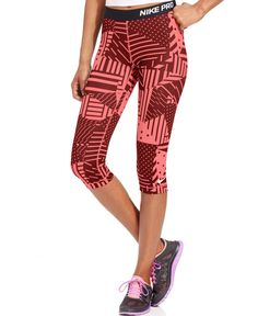 Nike Pro Patchwork Printed Capri Leggings - Activewear - Women - Macy's