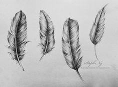 feathers by heyydaydreamer.deviantart.com on @deviantART