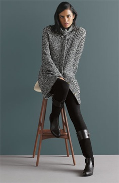 Eileen Fisher Funnel Collar Twist Jacket | Nordstrom