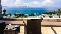 Kalimera ~ what a perfect way to start your day with a cup of tea or coffee on the veranda and such a gorgeous sea view in the beautiful natural green surroundings of Wyndham Loutraki Poseidon Resort!