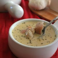 Low Carb Roasted Garlic Chicken Soup Recipe | All Day I Dream About Food