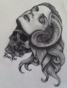 Ram Head.  #tattoo #tattoos #ink