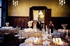 chic white wedding reception