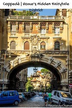 Welcome to Quartiere Coppedè in Rome.  A beautiful mix of architectural styles, makes up one of the most richest, prettiest and smallest districts of the Eternal City.  Examples of medieval, ancient Greek, Art Nouveau, neoclassicism and Baroque styles seemingly come together.